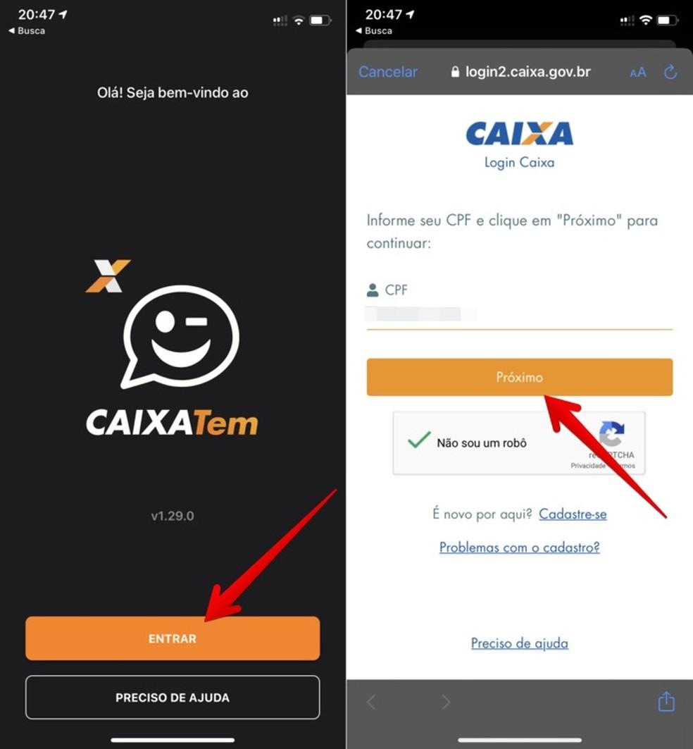 Transferir dinheiro Caixa Tem Mercado Pago permite usar cartão virtual da Caixa — Foto Reprodução Helito Beggiora