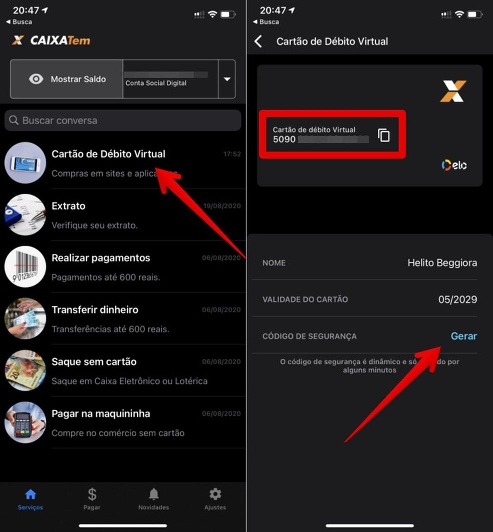 É possível transferir dinheiro Caixa Tem para Mercado Pago — Foto Reprodução Helito Beggiora