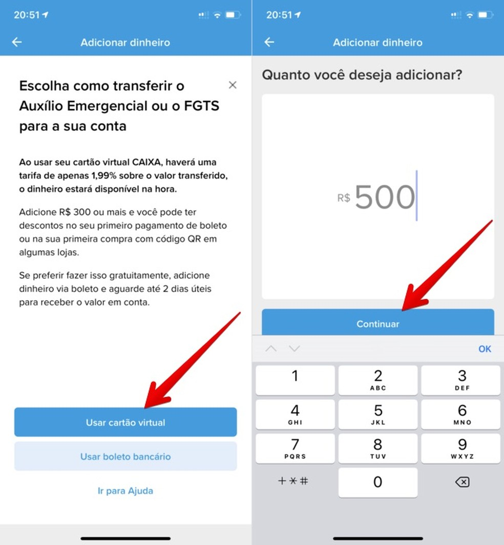 Tutorial mostra como transferir dinheiro do Caixa Tem para Mercado Pago — Foto: Reprodução/Helito Beggiora
